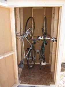 Diy bike shed need something for next to the house and id like vertical bike storage shed maybe adult bikes vertically ad kids bikes horizontally with shelf diy solutioingenieria Image collections