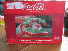Unusual  Coca Cola Brand Telephone  Styled  as the Clear Green Bottle  Plastic
