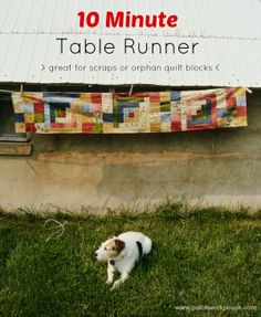 Pin by carla on sew quilt pinterest for 10 minute table runner instructions