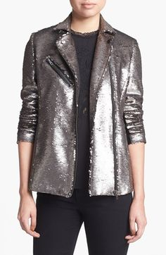 Sparkle and shine!  Aria's Mural Sequin Bomber Jacket available at #Nordstrom