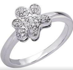 Diamond paw ring