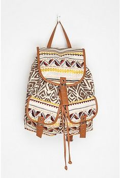 Ecote Bizarre Backpack from Urban Outfitters. Saved to My Accessories. Shop more products from Urban Outfitters on Wanelo. Aztec Backpacks, Cool Backpacks, Urban Outfitters, Canvas Backpack, Backpack Purse, Cute Bags, Swagg, Fashion Backpack, Leather