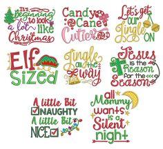 Christmas Word Art Set 1 Machine Embroidery Designs by JuJu Embroidery Store, Machine Embroidery Applique, Embroidery Files, Christmas Words, Christmas Quotes, Christmas Labels, Christmas Clipart, Christmas Items, Christmas Design