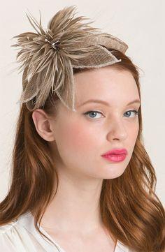 Tasha 'Sinamay Derby' Flower Headband, Neutral