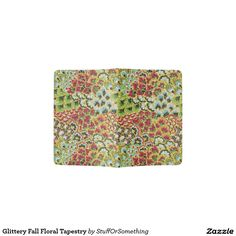 Glittery Fall Floral Tapestry Passport Holder