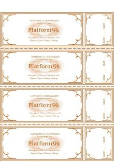 Harry Potter Party ~ Free Hogwarts Express Ticket Template plus links to… Harry Potter World, Harry Potter Motto Party, Harry Potter Fiesta, Deco Harry Potter, Harry Potter Classroom, Mundo Harry Potter, Theme Harry Potter, Harry Potter Wedding, Harry Potter Birthday