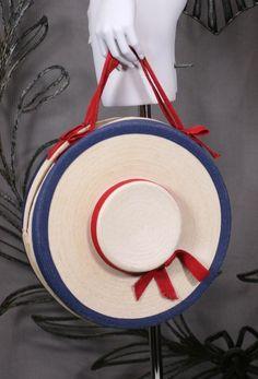 """1stdibs   Figural Italian Straw """"Hat"""" Bag"""