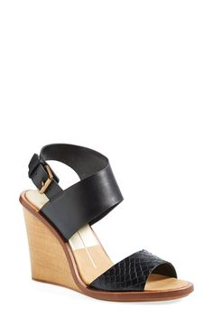 Dolce+Vita+'Jodi'+Snake+Embossed+Leather+Wedge+Sandal+(Women)+available+at+#Nordstrom