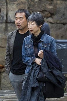 Haruki Murakami and his wife Yoko