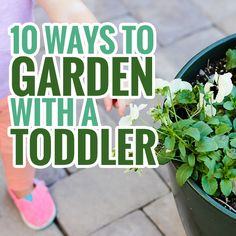 """10 Ways to Garden with a Toddler » Daily Mom: """"Make a spot in the garden just for your toddler. We love KidKraft's garden table from One Step Ahead for giving your toddler his own special garden space. Completely separate from the """"real"""" garden, with no risk of your toddler straying from his invisibly tied off area, this table comes with the versatility that both parents and kids love…"""""""