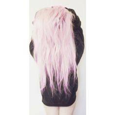 dyed, girl, goth, hair ❤ liked on Polyvore featuring hair, pictures, pink, people, photos and backgrounds