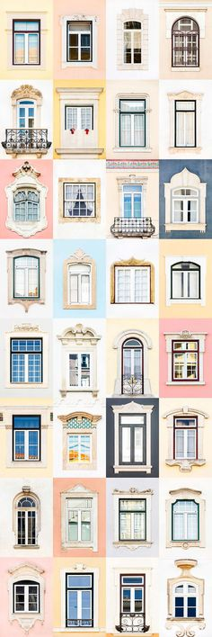 I Traveled All Over Portugal To Photograph Windows, And Captured More Than 3200 Of Them - via BoredPanda Dormer Windows, Windows And Doors, Building A Container Home, Window Styles, Window Design, Door Design, Most Beautiful Cities, Interior Design Kitchen, Lisbon