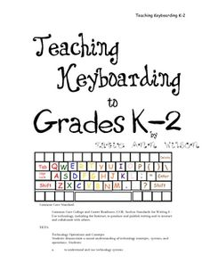 Here are some resources, activities, and games to help teach students grades K-2 keyboarding skills.    Common Core Standard:  Common Core College and Career Readiness (CCR) Anchor Standards for Writing 6 - Use technology, including the Internet, to produce and publish writing and to interact and collaborate with others.    NETS:  Technology Operations and Concepts  Students demonstrate a sound understanding of technology concepts, systems, and operations. Students: