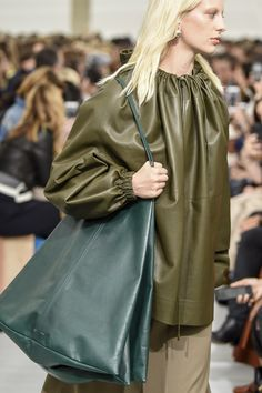 CELINE SS 18 love this green leather tote bag #ToteBags
