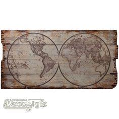 Wanddeco Wereldkaart