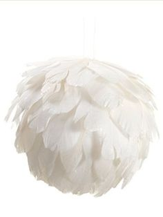 "Confetti Glittered White Feather Christmas Ball Ornament 5"" (125mm)"