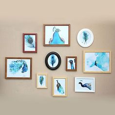 Contemporary Style Photo Wall Frame Collection - Set of 10 – USD $ 69.99
