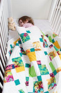 Baby Quilt 2014 inspired by Kristy Daum's Modernized D9P tutorial.