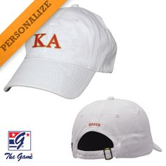 01d9a420 Campus Classics - Kappa Alpha Order Personalized White Hat by The Game®:  $29.95 Alpha