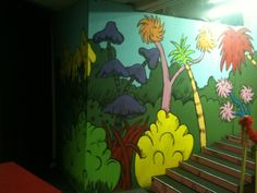 seussical set, painting, mural, dr. seuss