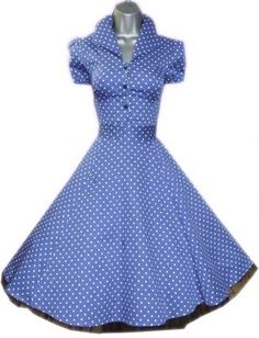 Hearts & Roses Blue Alana Shirt Dress 50's Rockabilly Vintage Pinup Swing Retro - Kind of I Love Lucy, but I like it!