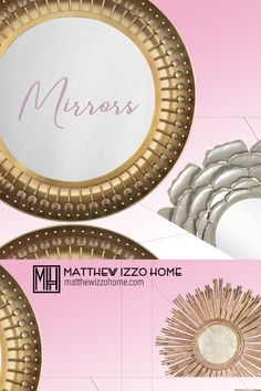 Find a mirror that matches your style at Matthew Izzo Home Mirror Mirror, Mirrors, Haiku, Regency, Your Style, Rooms, Boho, Store, Modern