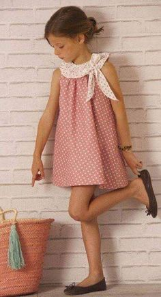 dresses for girls Little Dresses, Little Girl Dresses, Cute Dresses, Girls Dresses, Baby Girl Fashion, Toddler Fashion, Kids Fashion, Outfits Niños, Kids Outfits