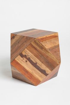 Fact: This woodblock side table has a cool geometric shape. It's simple but I like it.