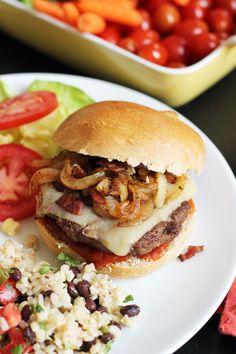 BBQ Bacon Onion Cheeseburger