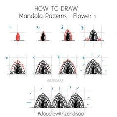 Ummu Majeed - Mandala Artist (@zendisaa) • Instagram photos and videos Mandala Art Lesson, Mandala Doodle, Mandala Dots, Mandala Pattern, Mandala Design, Mandalas Painting, Mandalas Drawing, Dot Painting, Doodle Patterns