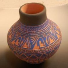 One-of-a-kind Feather Mountain pottery by Navajo artist Dennis Charlie