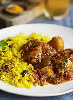 Low FODMAP Recipe and Gluten Free Recipe - Cape Malay chicken curry with yellow rice
