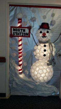 Door decorating contest winner.