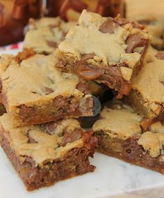 new! Rolo Cookie Bars!  Delicious Chocolatey  Caramel Cookiehellip