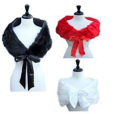 SACAS Faux Fur Shawl with a Beautiful Ribbon for Wedding in 4 colors, http://www.amazon.com/dp/B00JJ2WTGS/ref=cm_sw_r_pi_awdm_igt-vb1H1XB83