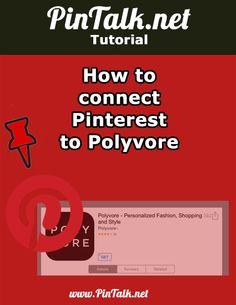 How to connect Pinterest to Polyvore. OTE: If you don't already have a Polyvore and or Pinterest account, sign up for one or both. I had to sign up for Polyvore. [Figure 1] NOTE #2: This only works for iOS. The Android integration will be out sometime…soon!