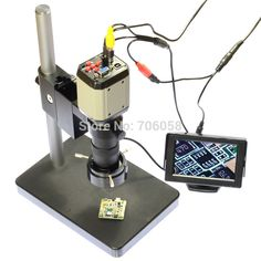 """129.00$  Buy here - http://alilfw.worldwells.pw/go.php?t=32214062569 - """"2.0MP 120X Industry Microscope Set Camera VGA USB AV TV Video Output C-Mount Lens 4.3"""""""" inch LCD Monitor Stand Holder"""" 129.00$"""