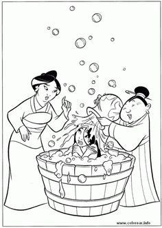 Mulan. Disney Coloring Page
