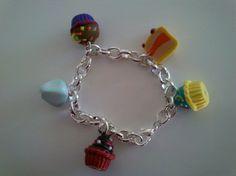 Muffin cupcakes berlingot bracelet fimo