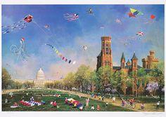 """""""Kite Day in Washington"""" Alexander Chen - Park West Gallery"""