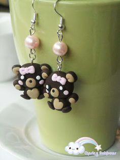 Collezione Sweet Overdose - Orecchini Sweet Bear #kawaii #cute #sweet #handmade…