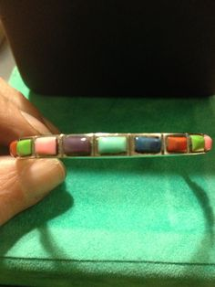 Rainbow Sterling Bracelet Silver Pink Blue Purple Red Green Cuff Enamel Stamped 925 Adjustable 9 grams Vintage Jewelry Bangle 60s Boho Taxco on Etsy, $33.00