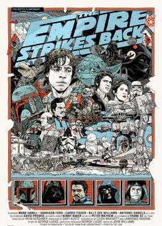 empire strikes back mondo movie poster