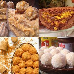 Na Cake by Yu, em sentido horário: ovo de churros, bolo de cenoura, brigadeiro de leite ninho e de paçoca (de R$ 55 a R$ 110)