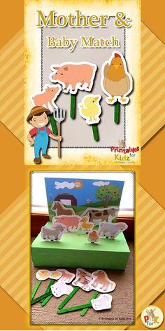 Farm Animal Bingo Card Farm Animals And Their Young