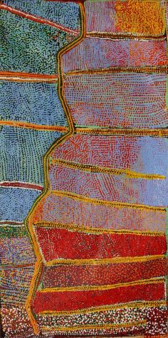 Minyawe Miller, Karlamilyi River, 2010, acrylic on linen, 152 x 76 cm