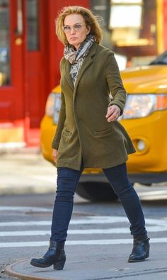 Jessica Lange spotted out and about in New York City, New York on April 2, 2015