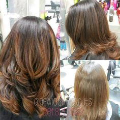 Mocha base with caramel highlights. #Brunette #light #brown #highlights