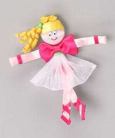Take a look at this Picture Perfect Hair Bows Hot Pink Ballerina Clip by Dance Class: Apparel & Accents on today! Ribbon Hair Clips, Hair Ribbons, Ribbon Art, Ribbon Crafts, Hair Barrettes, Ribbon Bows, Diy Crafts, Hairbows, Headbands