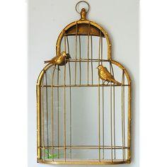 Birdcage mirror - Very pretty Hallway Deco     #mydecoWedding